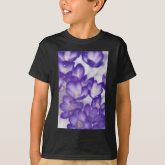 Lavender Crocus Flower Patch T-Shirt
