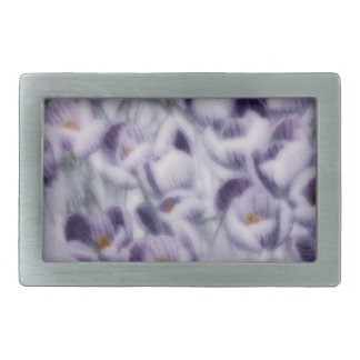 Lavender Crocus Patch Belt Buckle
