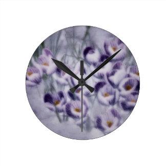 Lavender Crocus Patch Clock