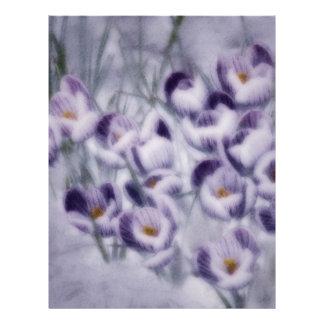 Lavender Crocus Patch Customized Letterhead