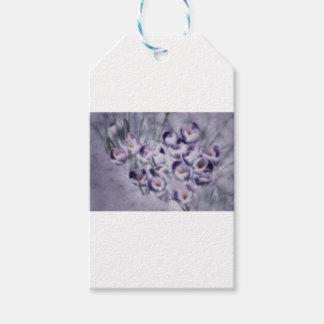 Lavender Crocus Patch Gift Tags