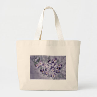 Lavender Crocus Patch Large Tote Bag
