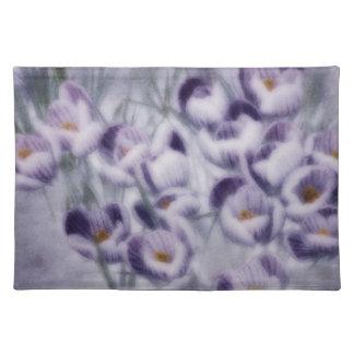 Lavender Crocus Patch Placemat