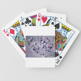 Lavender Crocus Patch Poker Deck