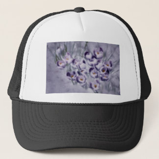 Lavender Crocus Patch Trucker Hat
