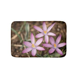 Lavender Crocus Triangle. Thank you card Bath Mat
