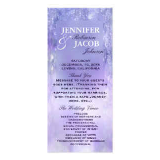 Lavender Crystal Bokeh Wedding Program