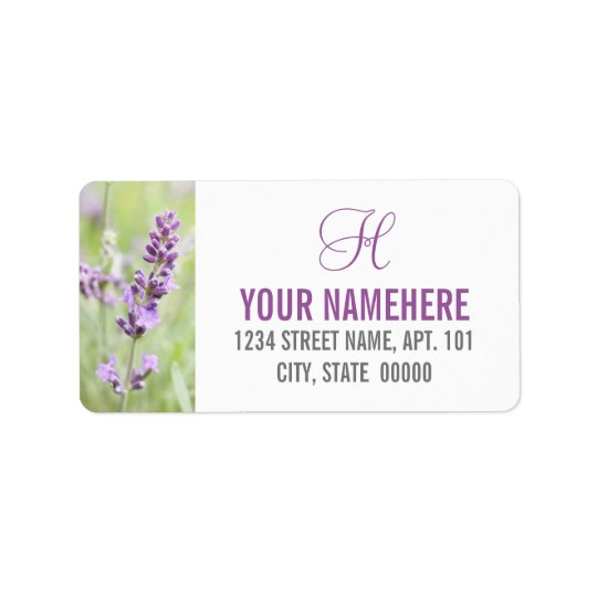 Lavender Custom Label