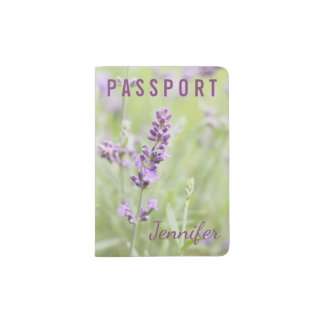Lavender Custom Passport Holder