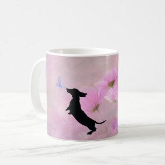 Lavender Dachshund Silhouette  Mug