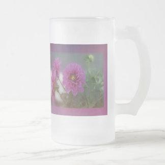 Lavender Dahlia Frosted Mug