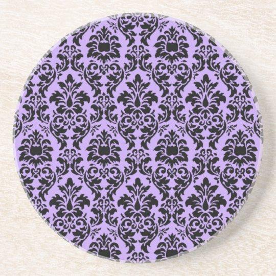 Lavender Damask Coaster