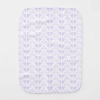 Lavender Damask Pattern Unisex Burp Cloths