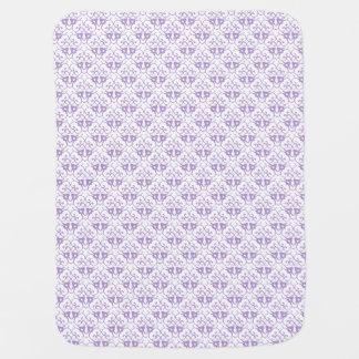 Lavender Damask Pattern Unisex Swaddle Blanket