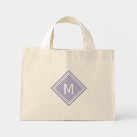 Lavender Diamond Monogram Mini Tote Bag