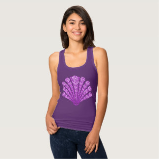 Lavender Diamond Seashell Tank Top
