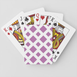 Lavender Diamonds on White Playing Cards