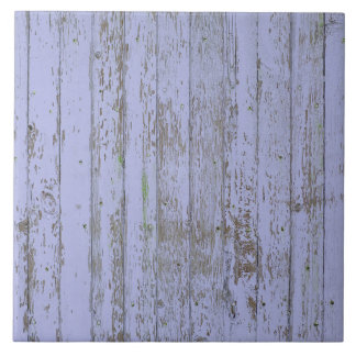 Lavender Faux Wood Texture Large Square Tile