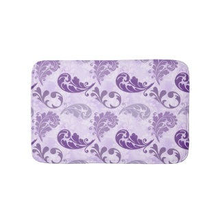 Lavender, Feather, Purple, Feathers, Elegant Bath Mat
