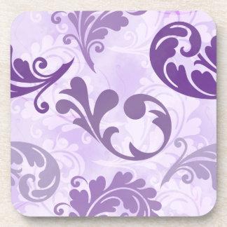 Lavender, Feather, Purple, Feathers, Elegant Coaster