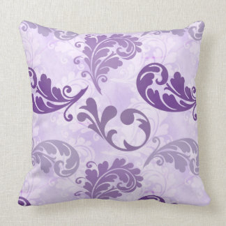 Lavender, Feather, Purple, Feathers, Elegant Throw Pillow