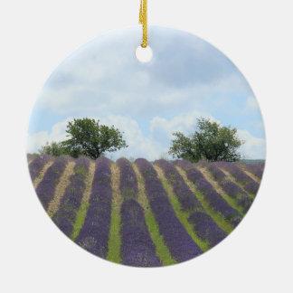 Lavender field Christmas Ornament