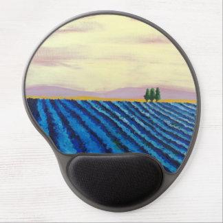 Lavender Field (French Landscape) - K.Turnbull Art Gel Mouse Pad