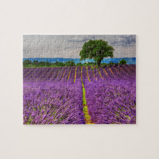 Lavender Field scenic, France Jigsaw Puzzle