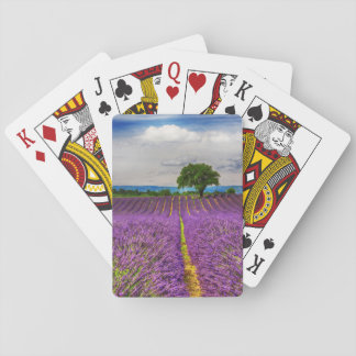 Lavender Field scenic, France Playing Cards