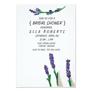 Lavender Fields- Bridal Shower Invitation
