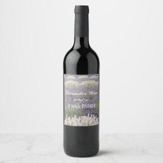 Lavender Fields Floral Wine Label