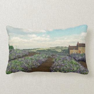 Lavender Fields Lumbar Throw Pillow