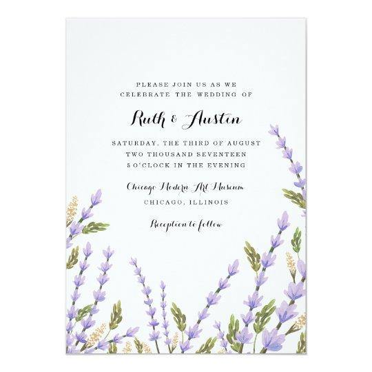 Lavender Fields Wedding Invitation