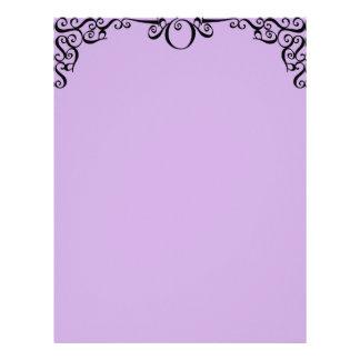 Lavender Filigree Letterhead