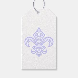 Lavender Fleur de Lis Gift Tags