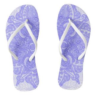 Lavender Fleury Flip Flops