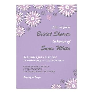 Lavender Floral Bridal Shower Wedding Invitation