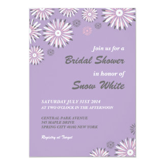 Lavender Floral Bridal Shower Wedding Invitation