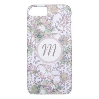 Lavender Floral Damask iPhone 7 Case