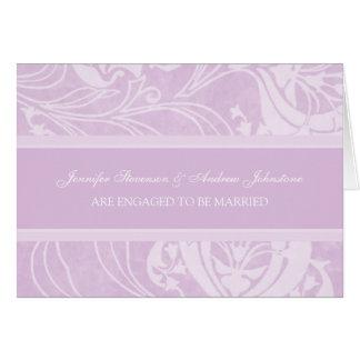 Lavender Floral Engagement Announcement Card