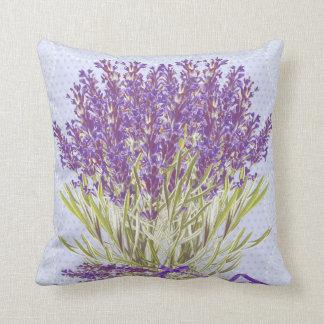 Lavender floral pillow