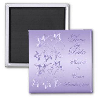Lavender Floral Save the Date Magnet