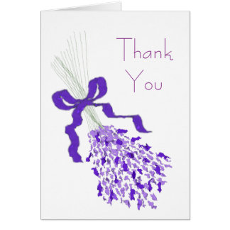 Lavender Floral Wedding Thank You Card