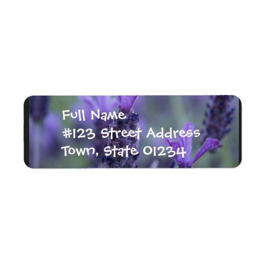 Lavender Flower Photo Return Address Label