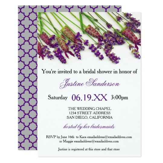 Lavender Flowers - Bridal Shower Invitation