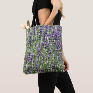 Lavender Flowers Floral Tote Bag