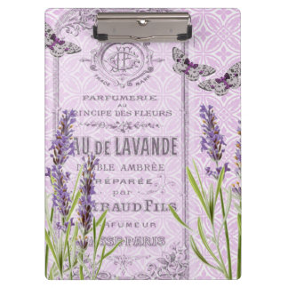 Lavender Flowers French Vintage Collage Clipboard