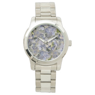 Lavender Flowers Hydrangea Face Watch