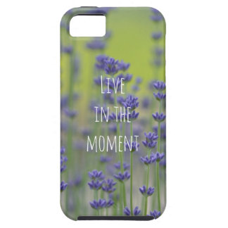 Lavender Flowers Inspirational Quote Case For The iPhone 5