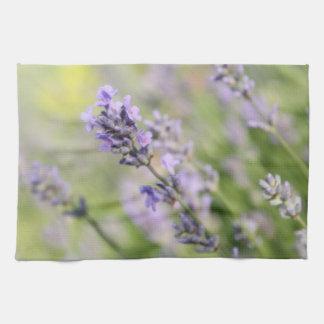 Lavender Flowers. Kitchen Towel